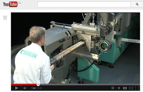 Running a twin screw extruder making a puffed snack