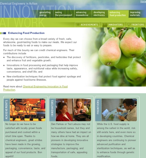 Chemical Engineers in Food Manufacturing - Action Innovation at Work