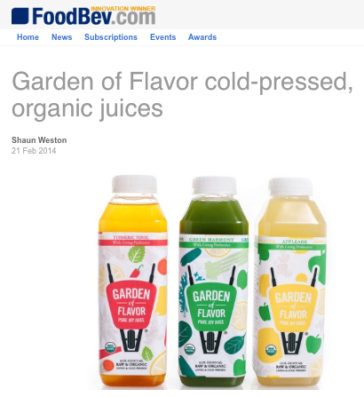 Garden of Flavor cold pressed organic juices