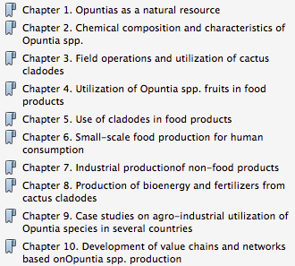 Chapters of   /http://www.fao.org/docrep/019/a0534e/a0534e.pdfCommercialising Cactus Pears