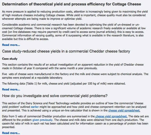 Cheese yield