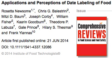 Applications and Perceptions of Date Labeling of Food Newsome 2014 Comprehensive Reviews in Food Science and Food Safety Wiley Online Library