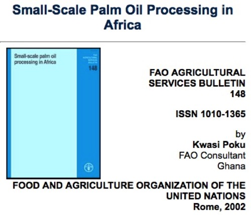 Small Scale Palm Oil Processing in Africa