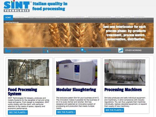 Sint TECNOLOGIE Design and Realization Modular Slaughtering Systems